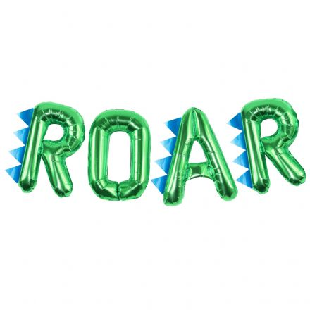 Dinosaur 'ROAR' Green Balloon Bunting